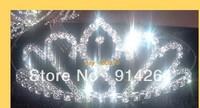 Wholesale 4pcs Noble Prom/Bridal Rhinestone TIARA Hoops     free shipping