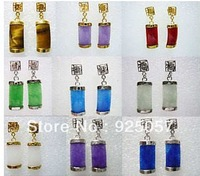 9Pairs Multicolor Jade EarringFashion jewelry