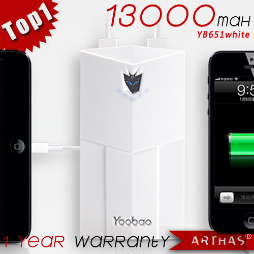 [1 year warranty] YOOBAO 13,000mAh Thunder Power Bank YB651 for mobile phones,iPhone4/3/5,iPad,cameras,PSP/NDSL,MP3/MP4 players(China (Mainland))
