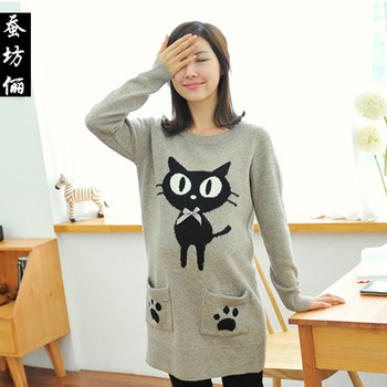 2.5th2cfl Maternity Mooren  clothing winter small cat sweater  sweater