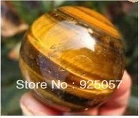 50MM! tigereye quartz crystal sphere ball healing Fashion jewelry