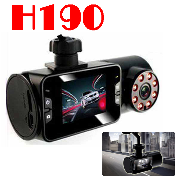 BY DHL OR EMS 30 pieces no profit Car video dvr with HD1280x720p and Car Camera lens can be rotated 270 degree H190