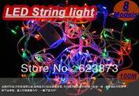 8 Modes Display Colorful 100 LED 10m led String Light for Holiday Party led christmas light AC110/220V 10PCS