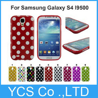Candy Color Jelly Polka Dot Wave Point Style Design Soft Gel TPU Case Cover For Samsung Galaxy S4 i9500, Free screen protector