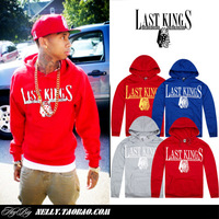 Last kings hat hiphop pocket shirt sweatshirt male hip-hop hiphop hoodie loose tyga