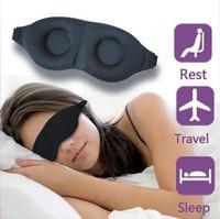 Fashionable Soft Padded  Eye Mask Shade Nap Cover Blindfold Sleeping Travel Rest free shipping
