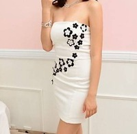 2013 sexy flower tube top dress
