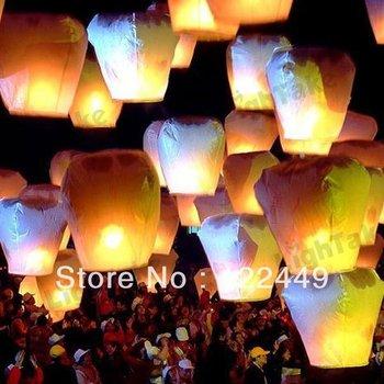 Free Shipping Chineses Lantern Sky Lantern Kongming Lantern Flying Wishing Lamp Wedding Party Paper Lights(10pcs/lot)