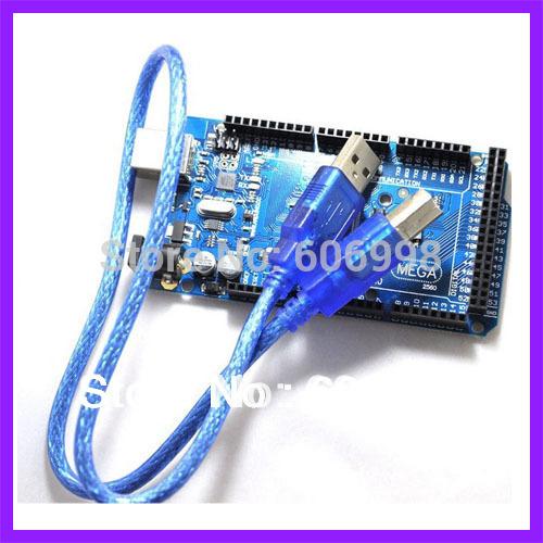 Mega 2560 Mega2560 ATmega2560 16AU Board USB Cable for Arduino Funduino Free Shipping Dropshipping