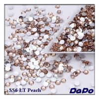SS6 Light Peach  Color 10000pcs/pack Flat back Acrylic Rhinestones Nail Art Rhinestones Free Shipping