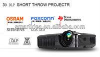 300inch big screen dlp short throw projector,free shipping