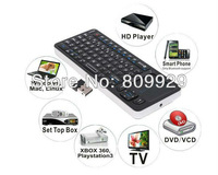 2.4G IR Rii Mini i6 Wireless Keyboard QWERTY 27 LEDs Backlight Touchpad 2 in 1 Universal Remote Control with Retail Box