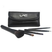 Beauty lac brush set belt bag 5 set horse hair brush small