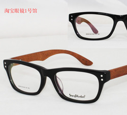 fashion handmade opticsl frame glasses wood temple spring hinge 3125 prescription eyeglases(China (Mainland))