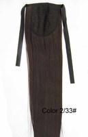 "Dark brown #2t33,22""  75G remy hair Horse tail hair/ Ponytail Hair,free shipping"