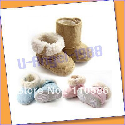 20pcs/lot free fedex.Warm and Cute winter/Anti-slip Baby Boots/Toddler&Infant's Shoes/Baby Footwear/First walker/Baby pre-walker(China (Mainland))
