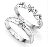 Italina beautiful angel married couple  female Korean silver ring 925 sterling silver rings free carve lettering Kedol-SL9010