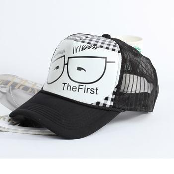 Glasses male truck cap baseball cap sunbonnet net hat male women's lovers