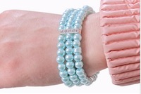 Min.order $10 (mix order) Accessories fashion pearl rhinestone bracelet small accessories s117