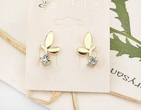 Min.order $10 (mix order) Accessories accessories leaves rhinestone stud earring earrings 5326