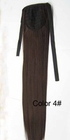 "A+++,22""  75G india blended human hair Horse tail hair/ Ponytail Hair #4,free shipping"
