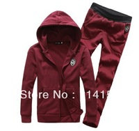 sport suit for man sportswear hoodies and pants jackets for men four colors for choice size M-XXL free shipping