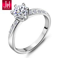 JPF explosive flash 0.6 Carat Swiss Diamond 925 Silver Ring female Korean jewelry female realistic diamond ring