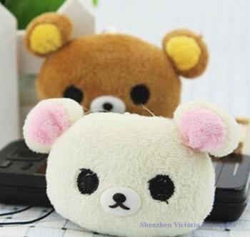 HOT SALE 40PCS Plush Stuffed TOY, Mini 4CM SAN-X Rilakkuma Bear, Mobile Cell Phone Strap Pendant Charm Strap Lanyard Key Chain