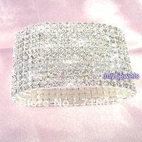 12 Rows Tennis Bracelet Multilayer Bracelets BC0146 Crystal Rhinestone Bracelet rhinestone bangle Free Shipping