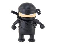 Free Shipping 4GB 8GB 16GB 32GB Ninja with Gun Design USB Flash Drive (Black)