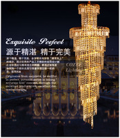Free Shipping Traditional Crystal Gold Pendant Light  Decorative Lamp, Supplier of Hilton Hotel (Model:PL-N044-11)