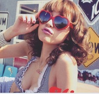 new arrival Heart to Heart sunglasses peach heart-shaped sunglasses 5pieces/pack A1253hot selling