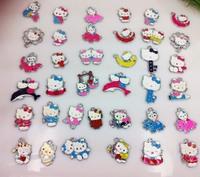 Free shipping !Wholesale 50Pcs/Lots DIY Alloy Metal Hello Kitty Enamel Charms