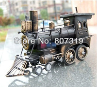 free shipping Zakka iron art train Crafts iron handicrafts Restore ancient ways old USA train iron train model toys knickknack