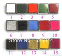 Free shipping 15pcs/lot inkpad/colorful inkpad/toy inkpad