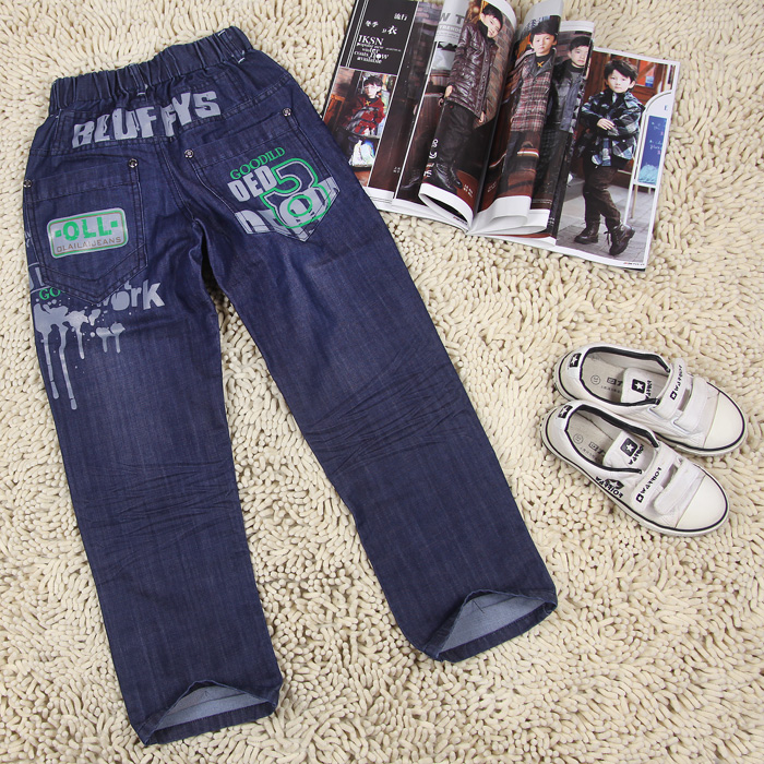 Super dudu autumn soft child clothing boys jeans pants child long trousers(China (Mainland))