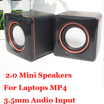 New Multimedia Sound system sound box 2PCS Pair 3.5mm Audio Input  2.0  Mini Speakers For Laptops