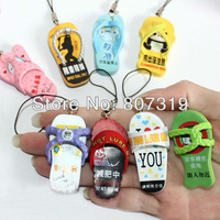 freeshipping hotsale!Korea hotsale fashion individuality slippers phone strape/chain mobile phone pendant key chain pendants