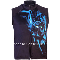 Free Shipping,Hot Sale Men's 3D Animal Wild Cat Printed Gothic Punk Casual Fleece Bodywarmer Gilet Vest, Vest S-5XL,Plus Size