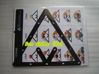 Free shipping 6pcs/lot 8balls/9balls/10balls Billiards Pool Ball Invisible Rack Sheet/magic rack sheet