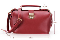Vintage Genuine leather doctor bag bag women's fashion handbag FREE SHIMENT