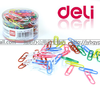 free shipping Lackadaisical deli de licacy multicolour paperpaper needle multicolour 0038 clip 30mm 160 box(China (Mainland))
