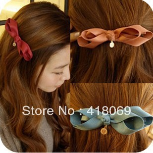 New Korea imported jewelry the authentic hair accessories bow hairpin side folder ladies hairpin top folder(China (Mainland))