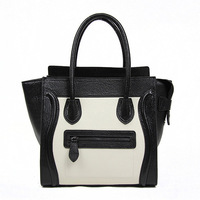 2013 fashion designer woman bag brand 100% genuine leather woman tote bag Smiley face Designer handbag