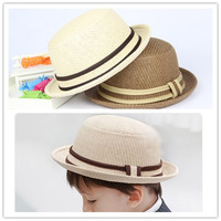 NXM003--2014 summer new arrival Children Hat and caps Kids Jazz Cap Baby Straw Cowboy Hat for boys and girls free shipping