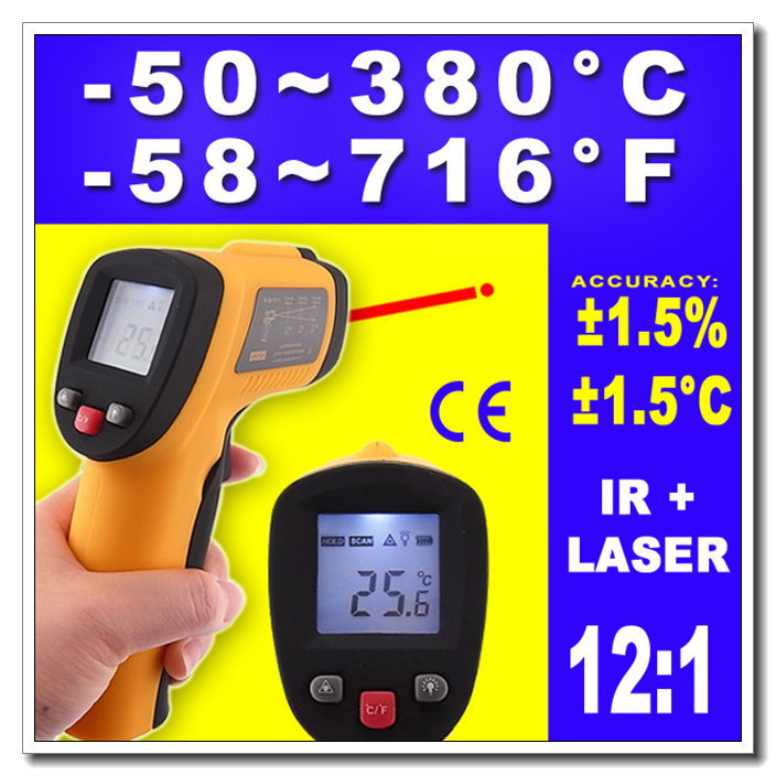 High quality High Quality Non-Contact IR Laser Point Infrared Digital Thermometer Temp Gun, Dropshipping(China (Mainland))