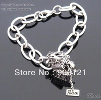 Fashion Stainless Steel  Box Type Bracelet for Girls Romantic Chain Bracelet Free Shipping