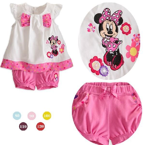2013-summer-Girls-cute-bow-Minnie-Mouse-