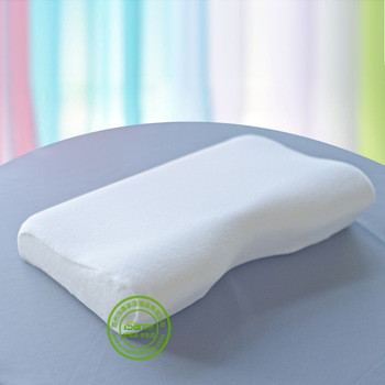 High density Isante Curved Memory Foam Pillow Cotton Velvet Cover effectively care cervical vertebra &  vertebra of shoulder