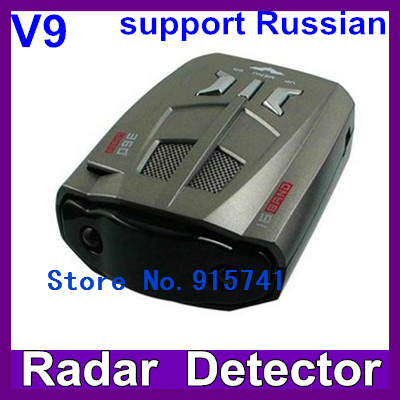 Hot sell V9 Full Bands Car Radar/Laser Detector Multi-Languages Selection Integrating with any GPS Navigator Free Shipping(China (Mainland))